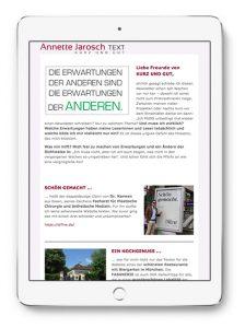 Annette Jarosch Newsletter Oktober 2017